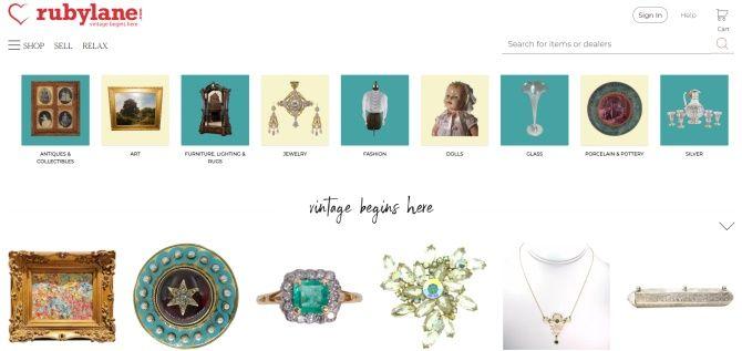 Prodávejte na stránce Rubylane.com své ručně vytvořené předměty.